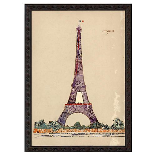 Paris Eiffel Tower Stamp