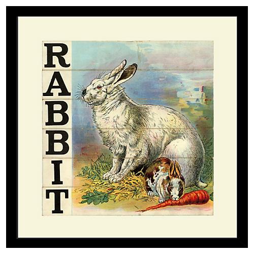 Victorian Slat Puzzle, Rabbit