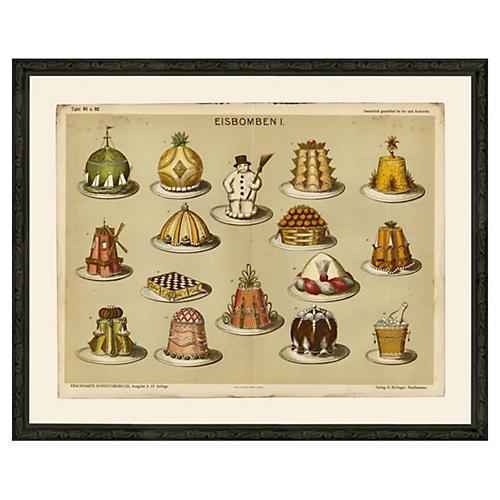 Desserts, Eisbomben 1, c 1900