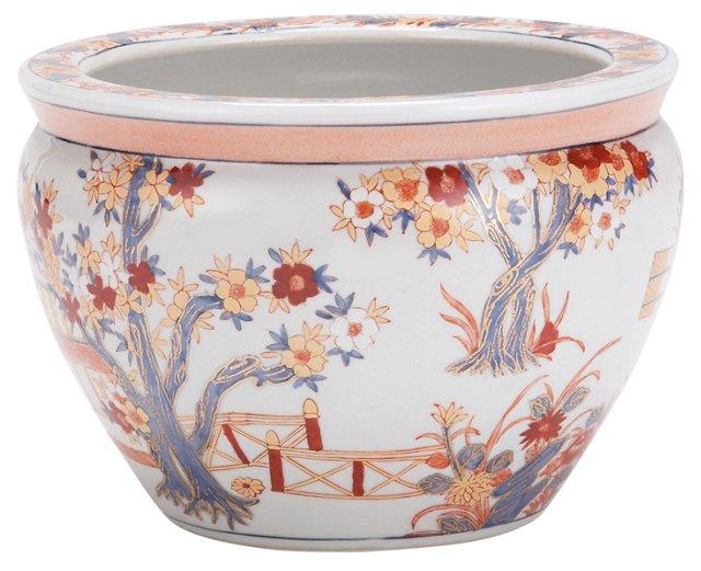"""8"""" Garden Scene Bowl,  Porcelain"""
