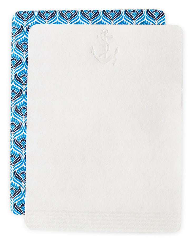 S/24 Oxford Lettersheets, Blue