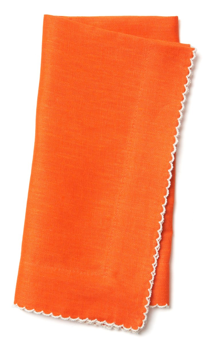 S/4 Dinner Napkins, Orange