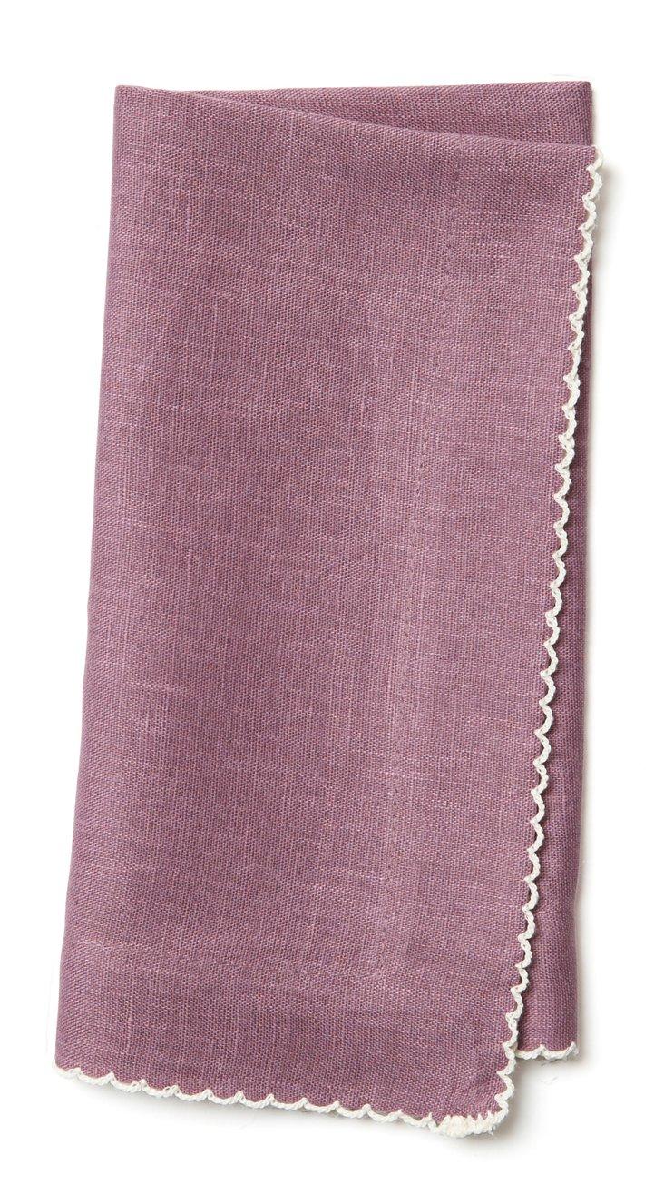 S/4 Dinner Napkins, Lilac