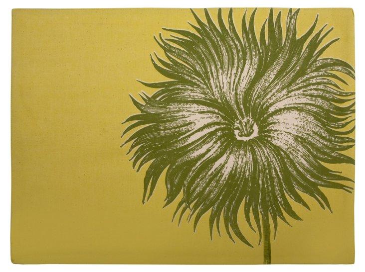 S/4 Block-Print Floral Place Mats