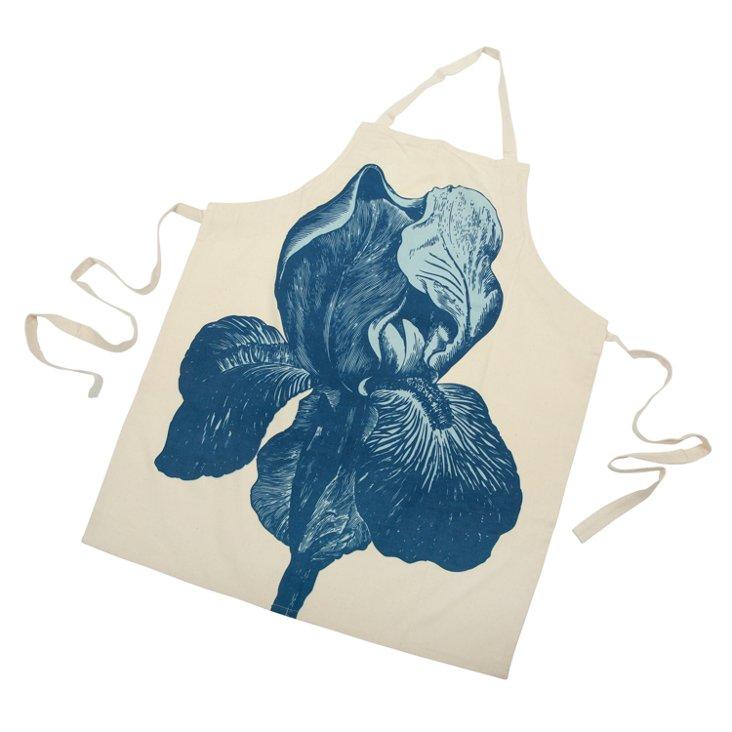 Iris Apron, Blue