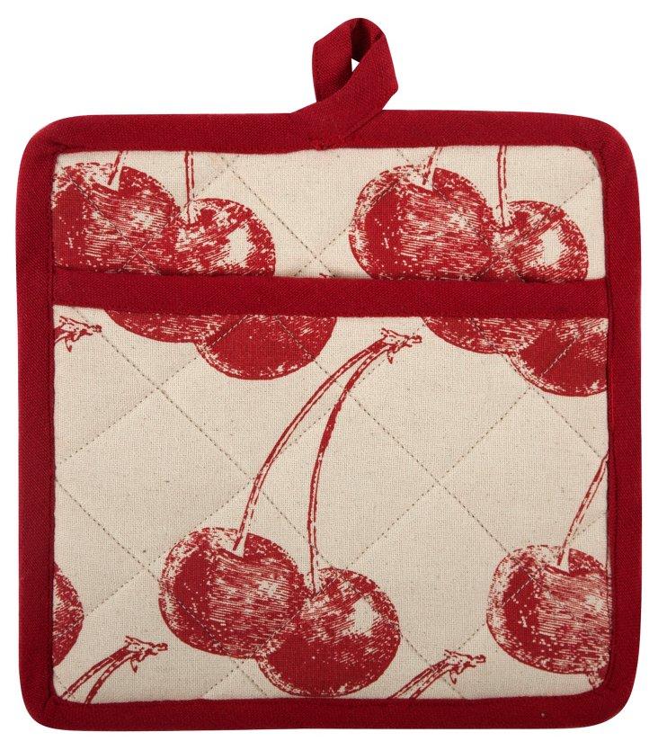 Cherry Pot Holder, Red