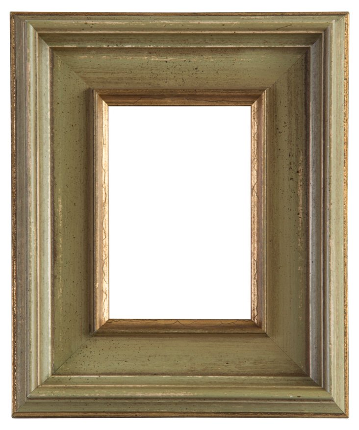 Sage & Gold Picture Frame, 3x5