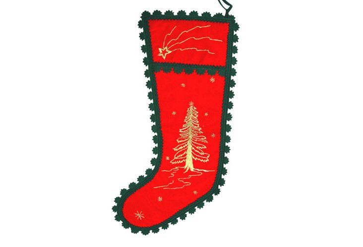 Wish Upon a Star Stocking, Red