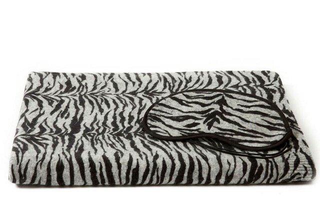 3-Piece Cashmere Travel Set, Zebra