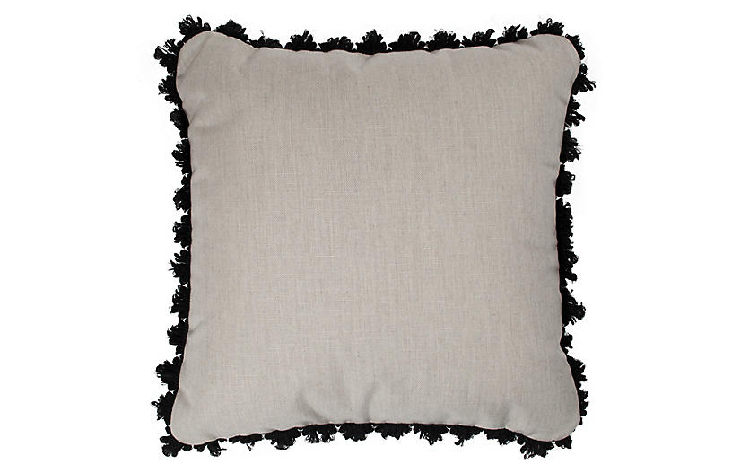 Frances Outdoor Pillows, Gray/Black