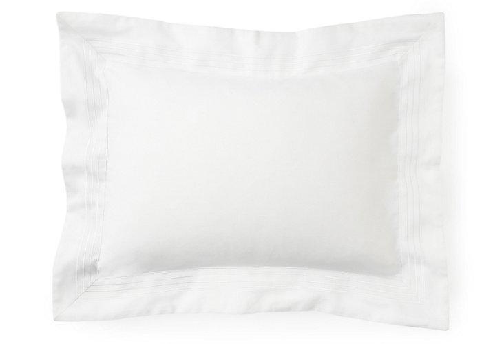 Modern Boudoir Sham, White