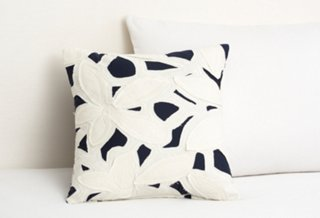 Cut Out Applique Pillow, Indigo