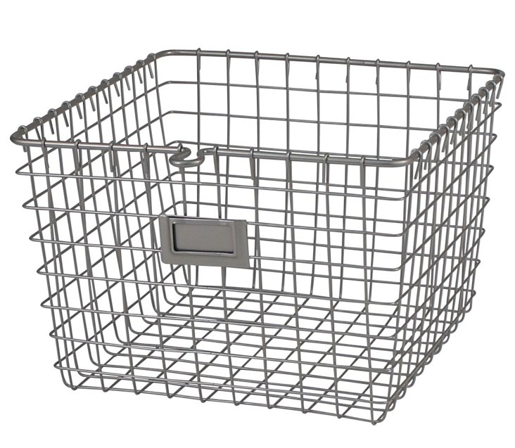 Satin Nickel Storage Basket