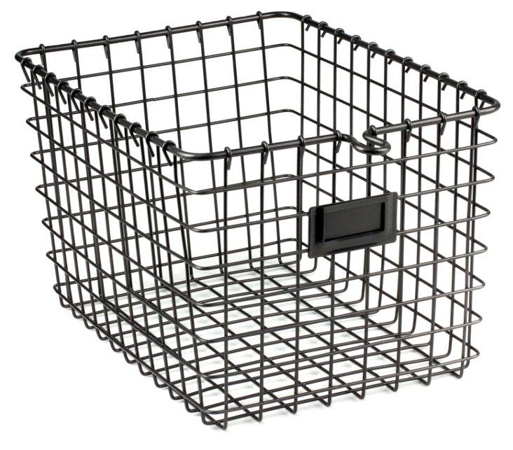 Cool Gray Storage Basket, Small