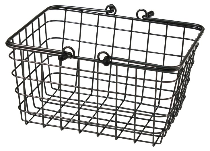 S/2 Small Wire Baskets, Cool Gray