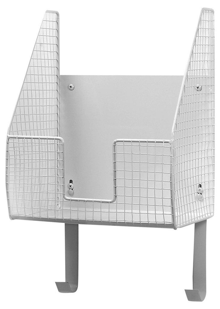 Wall Mount Single Basket, White