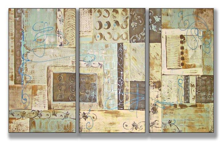 Aqua Dreams Mini Triptych