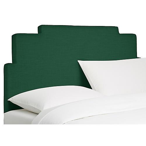 Paxton Headboard, Forest Linen