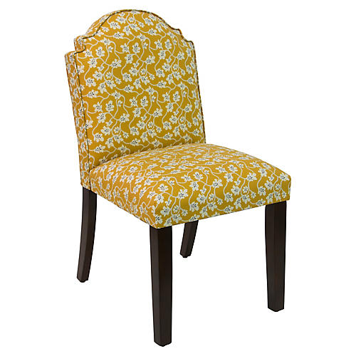 Elloree Side Chair, Ochre Vine