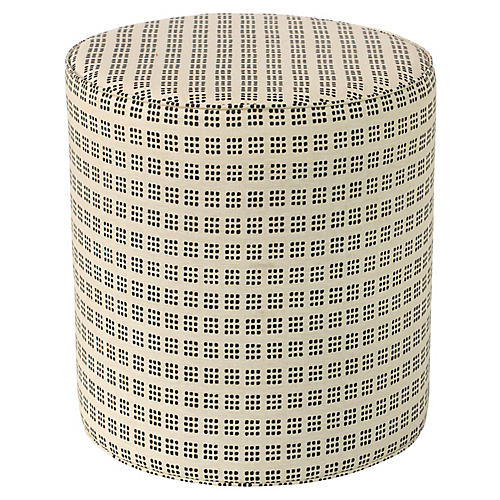 Brighton Round Ottoman, Window Dot