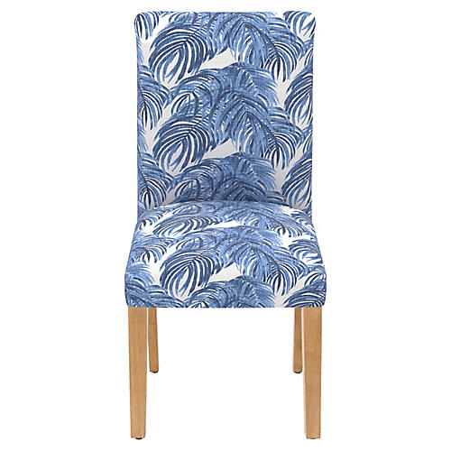 Shannon Side Chair, Blue Palm