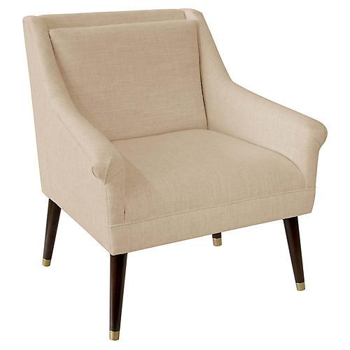 Carson Accent Chair, Sand Linen