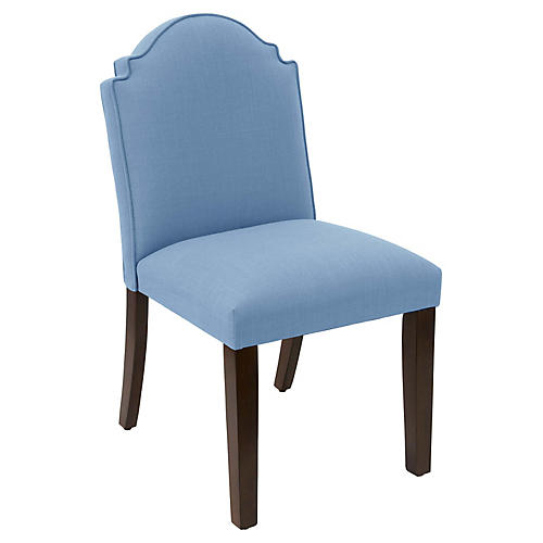 Elloree Side Chair, French Blue Linen