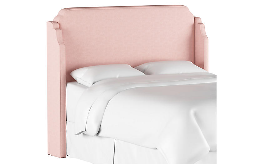 Aurora Wingback Headboard, Blush