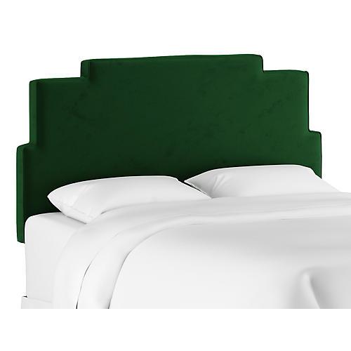 Paxton Headboard, Emerald Velvet