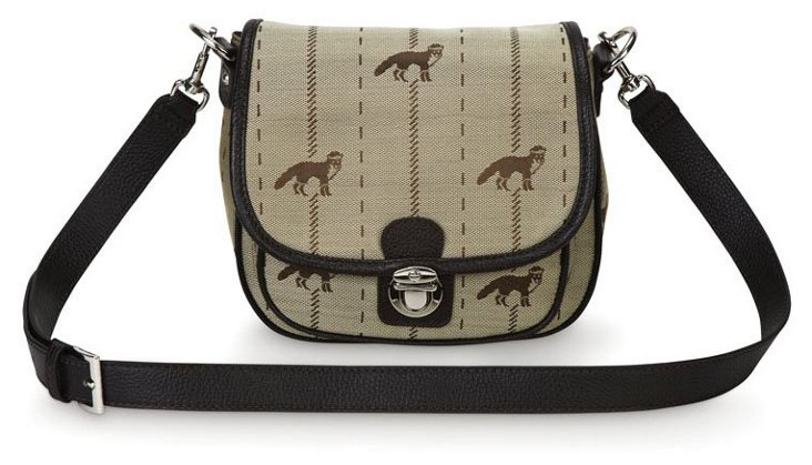 Fox Signature Saddle Bag, Tan/Brown