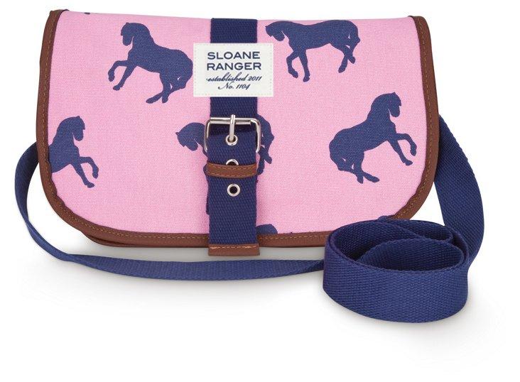 Saddle Crossbody Bag, Horses