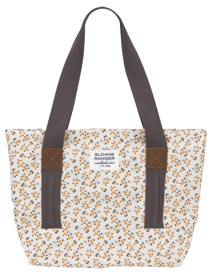 Ditzy Floral Classic Tote Bag, Yellow
