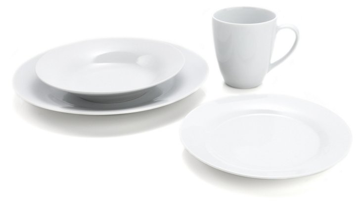 16-Pc Porcelain Round Dinnerware Set