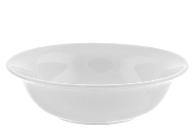 S/6 Royal Rim Cereal Bowls, White