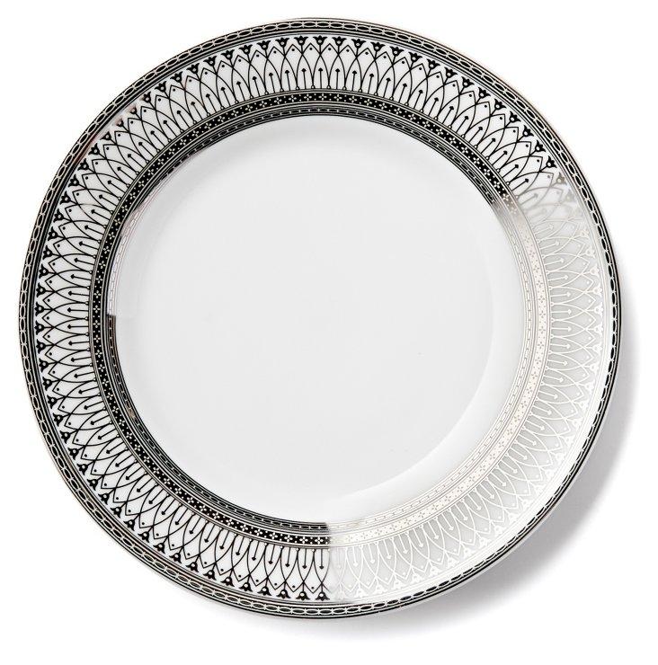 S/6 Iriana Dessert Plates, Silver