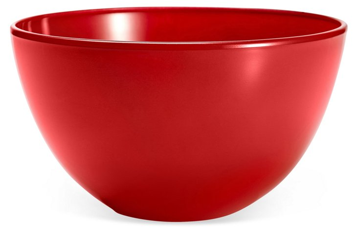 S/2 Glass Bowls, Red