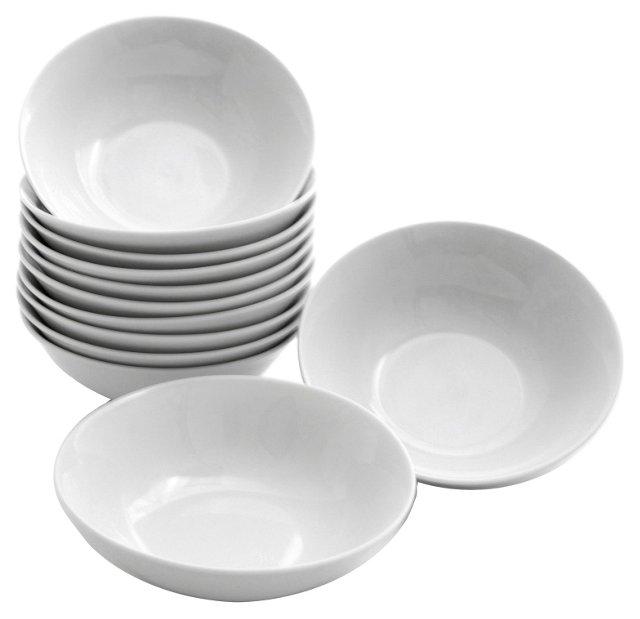 S/12 Porcelain Bowls, White
