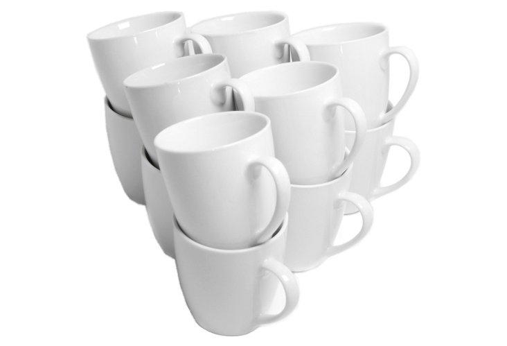 S/12 Mugs, 12 oz