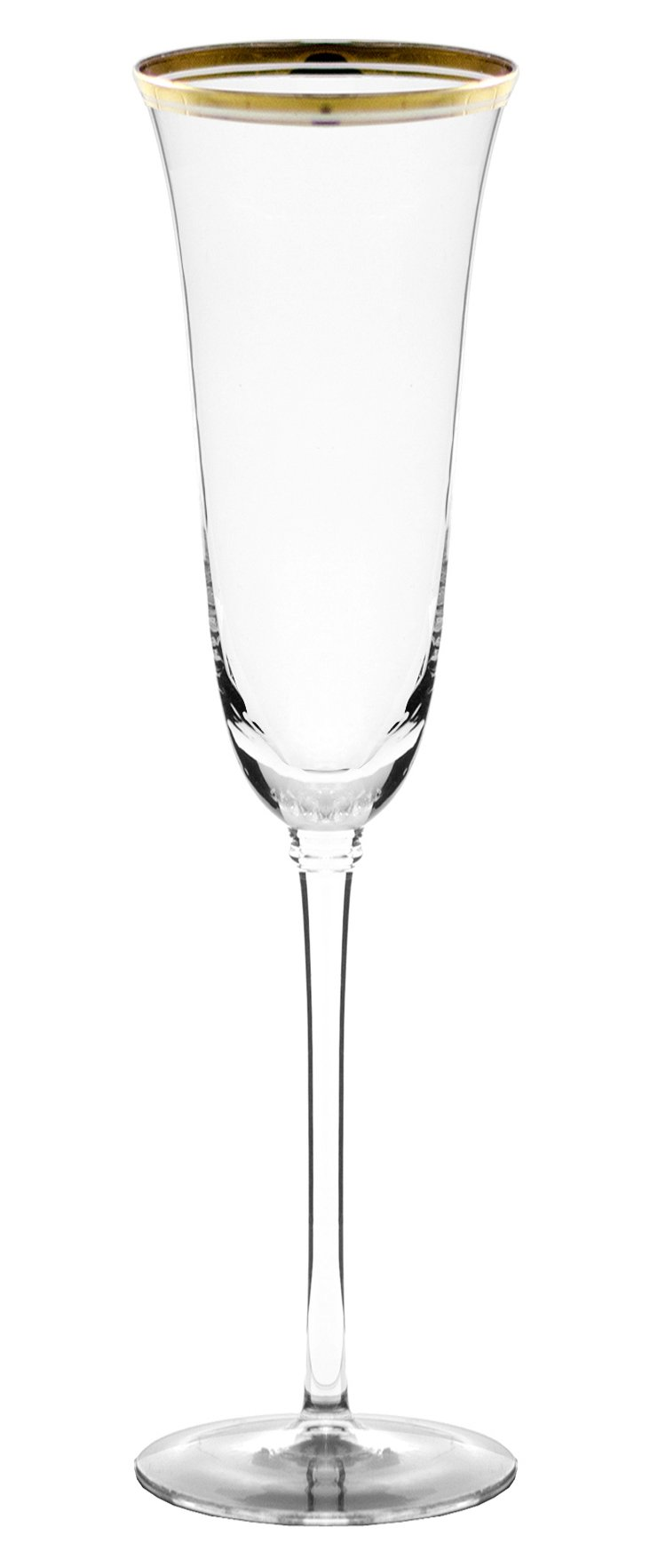 S/4 Windsor Champagne Flutes, Gold