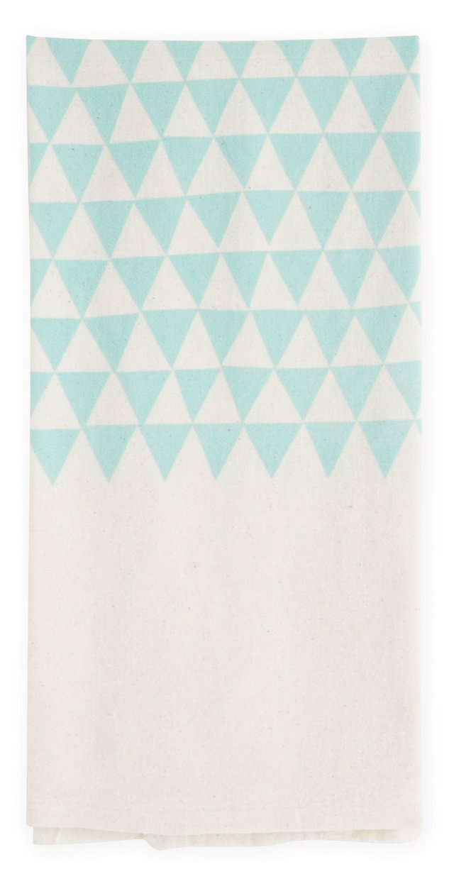 S/2 Triangles Flour Sack Towels, Ocean