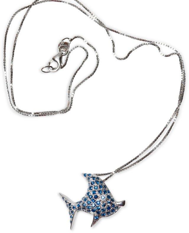 Sapphire Fish Necklace