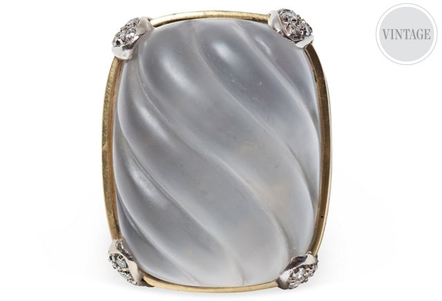 Carved Crystal Cocktail Ring