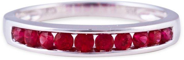 White Gold & Ruby Ring