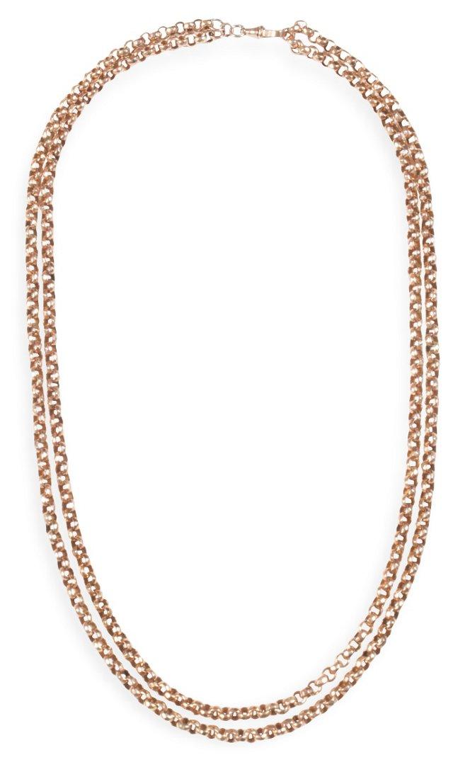 Gold Belcher Chain Necklace