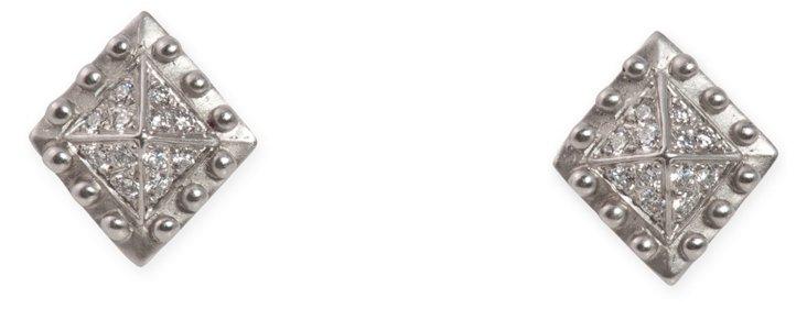 Platinum & Diamond Kieselstein Clips