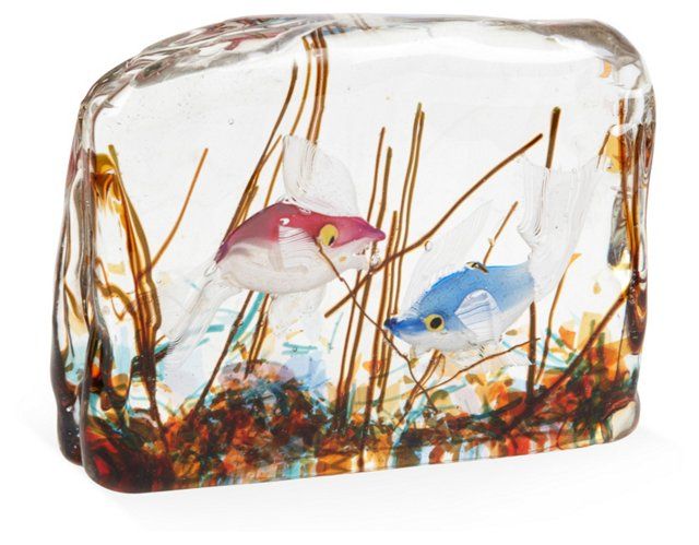 Murano Glass Fish Sculpture