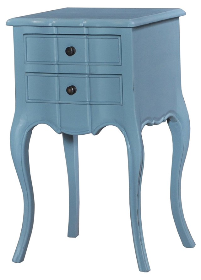 Cole Bedside Table, Light Blue