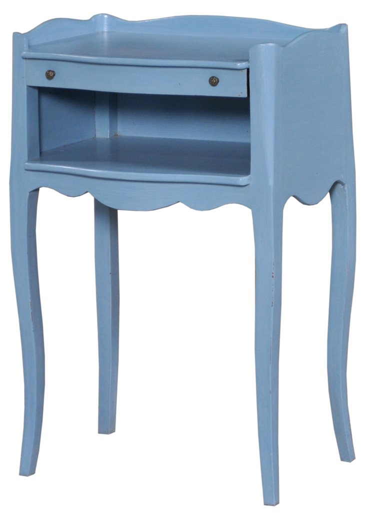 Plume Lamp Table, Weathered Blue
