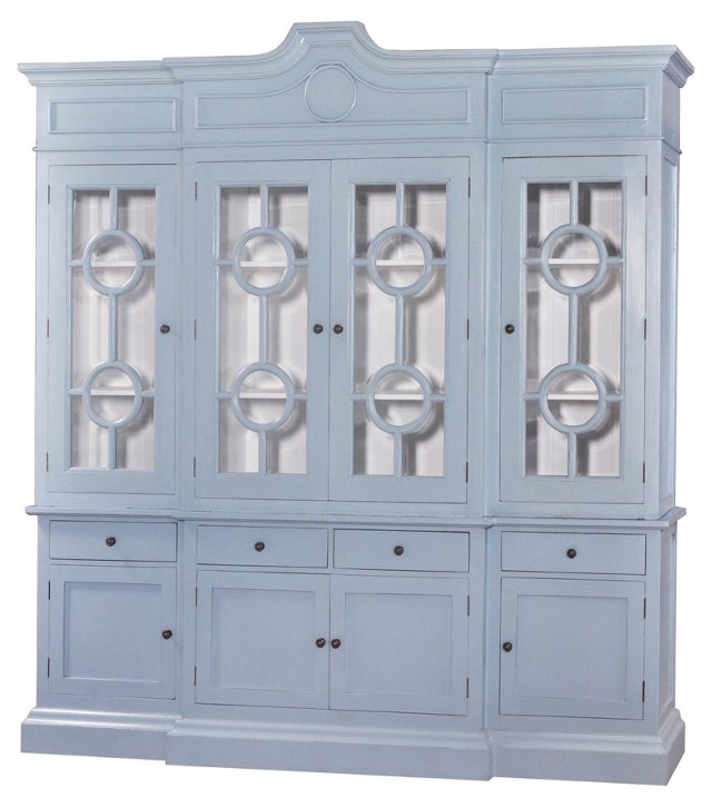 Burlington Large Bookcase, Light Blue