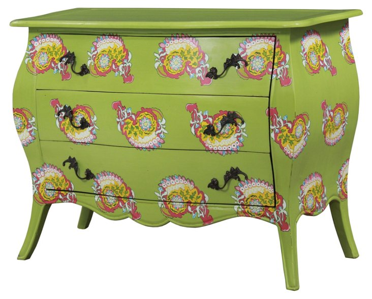 Ava Chest, Lime Green/Pink
